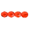 Fire Polished 7mm Transparent Orange